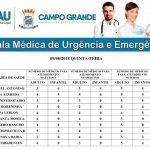 Confira a escala médica do CRS do bairro Aero Rancho e UPA Universitário